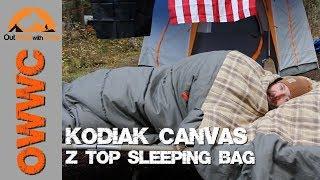 NEW Kodiak Canvas Sleeping Bag - Z-Top Sleeping Bag Review