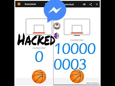 How to Hack / Cheat Facebook Messenger Basketball Game