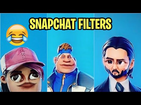 FORTNITE SKINS WITH SNAPCHAT FILTERS