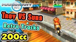 Mario Kart Wii - Troy vs Subs 200cc (All Retro Tracks)