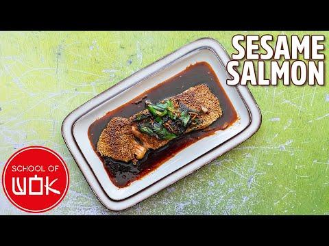 Amazing Sesame Crusted Teriyaki Salmon Recipe!   Wok Wednesdays