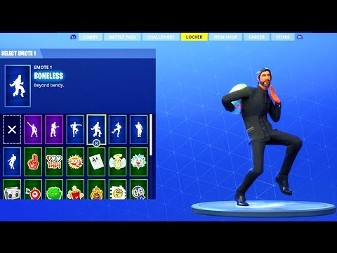 Fortnite Battle Royale - NEW Boneless EMOTE DANCE!