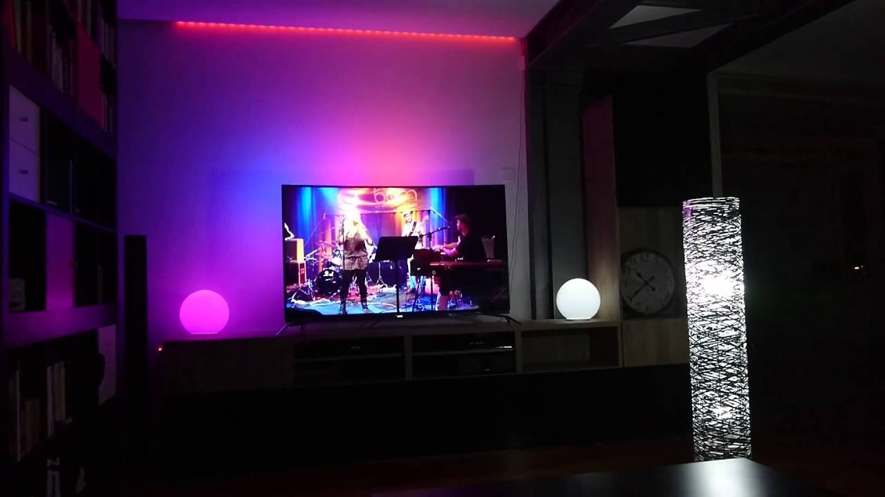 philips ambilight hue lightstrips hue bulbs tv 4k pus 8700 curved youtube. Black Bedroom Furniture Sets. Home Design Ideas