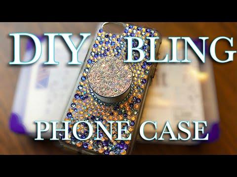 DIY BLING PHONE CASE!!!!