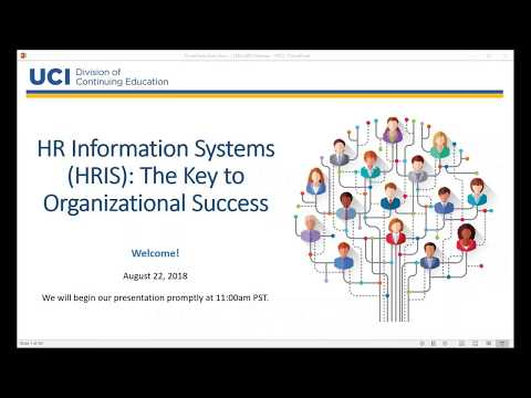 HR Information Systems (HRIS): The Key To Organizational Success 8-22-18