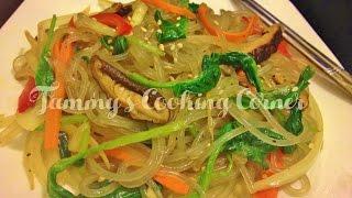 Japchae (korean Glass Noodles Stir Fried)  잡채 - Mien Tron Han Quoc (miến Trộn)