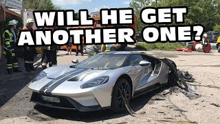 Ford GT Burns To The Ground In Germany After 43 Miles!