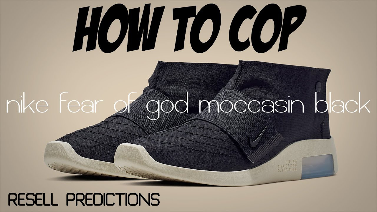 NIKE AIR FEAR OF GOD MOCCASIN   HOW TO