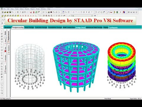 Circular Building Design by STAAD Pro V8i Software thumbnail