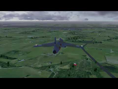 Hawker Hunter F6 - Over EGOD Wales UK (Part 1)