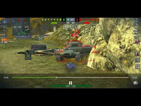 WoT Blitz обычный бой на ARL-44 смотри до конца)))))