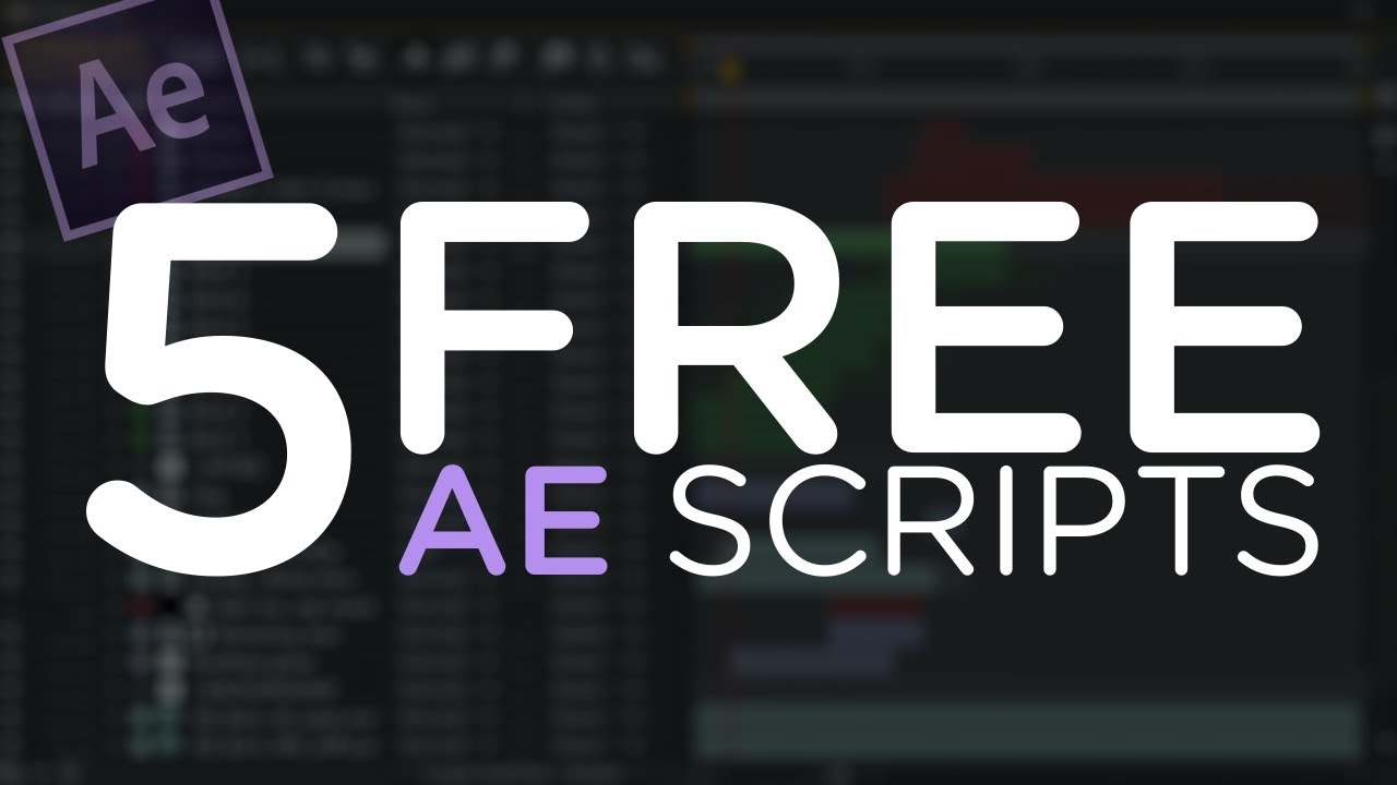 elementary script for after effects free download