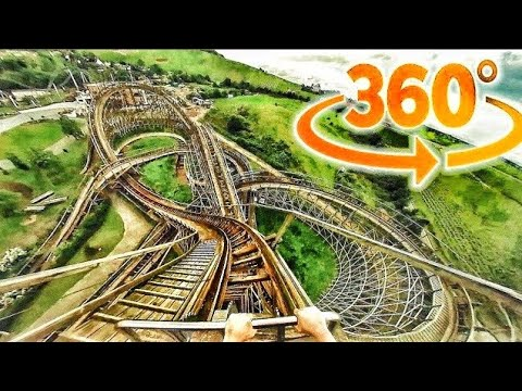 🔴 VR 360° Roller Coaster VR 360 VIDEO 4K Virtual Reality VIDEO 360 GoPro Fusion 360