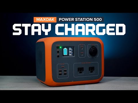 Emergency Backup - MAXOAK Power Station 500Wh Portable Power