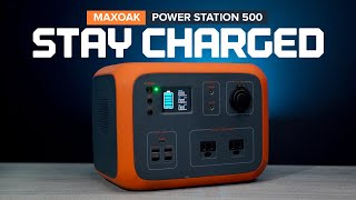 Emergency Backup - MAΧOAK Power Station 500Wh Portable Power