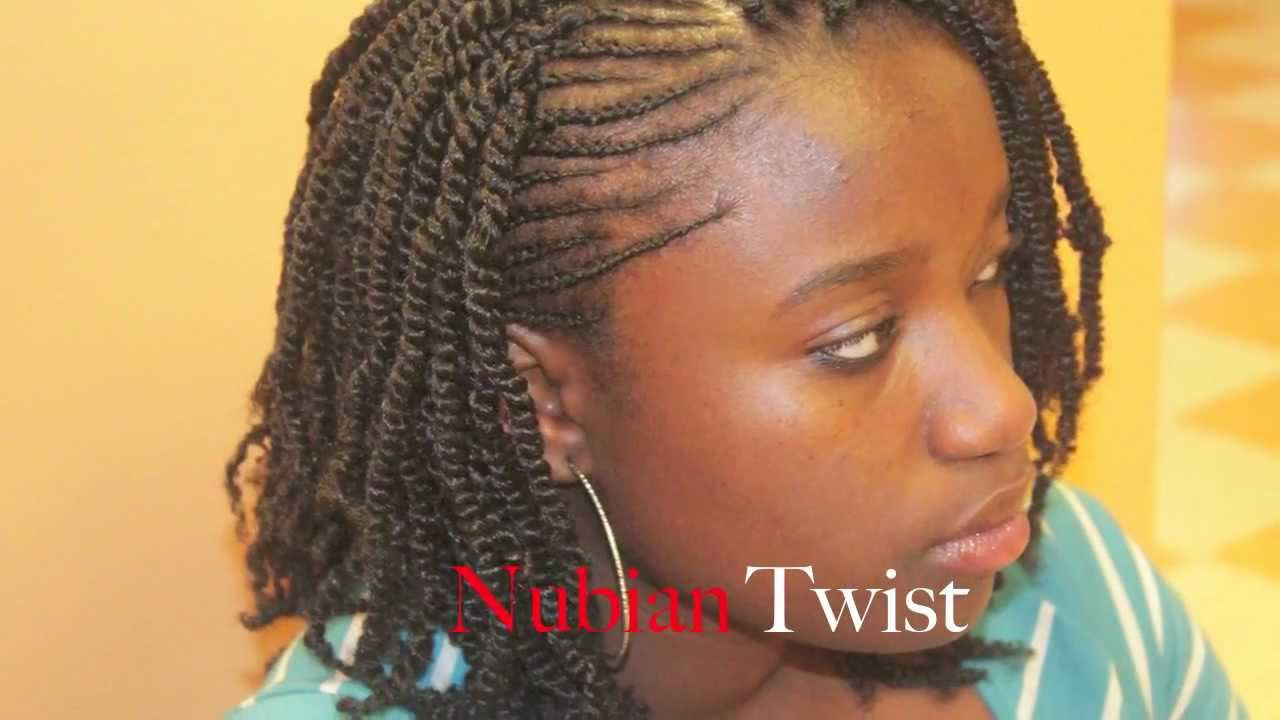 Beautiful Nubian Twist With Cornrows On The Side Youtube