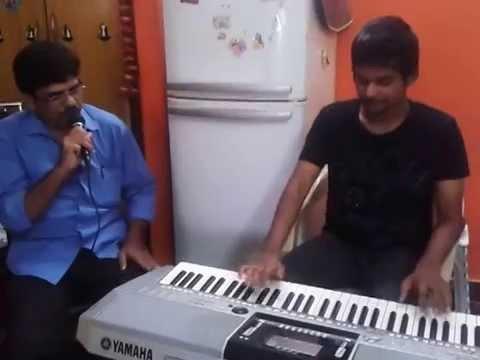 pranav s playing keyboard chandru singing kannanchina ee mathali daari thappida maga
