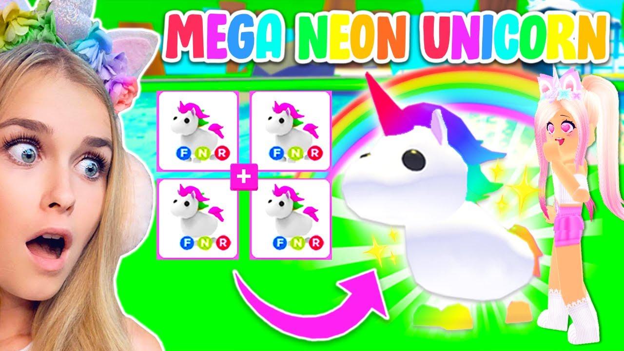 Turning My Neon Unicorn Into A Mega Neon Unicorn In Adopt Me