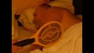 The proper way to awaken a drunk - Electric Fly Swatter!