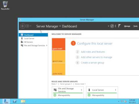 Windows Server 2012 Tutorial Video: Remote Management WinRM
