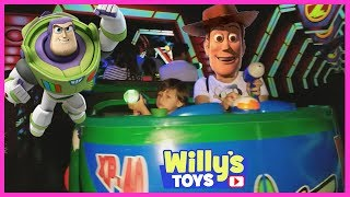 Buzz Lightyear Astro Blasters Ride Tour at Disneyland CA and TOY STORY Gift Shop - Willy