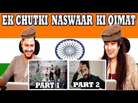 Indian Reacts On  Aik Chutki Naswar Ki Qimat part 1&2 | Our Vines & Rakx Production | Krishna Views