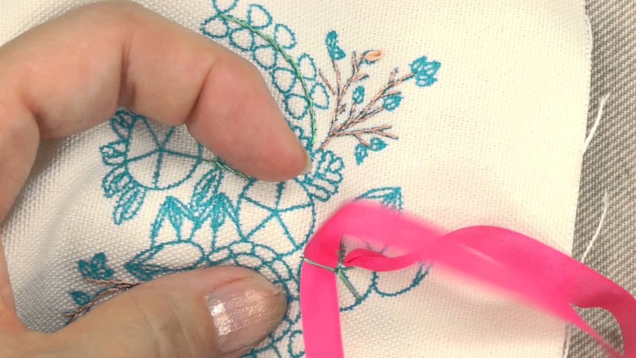 how to embroider a spider web rose   annie s creative