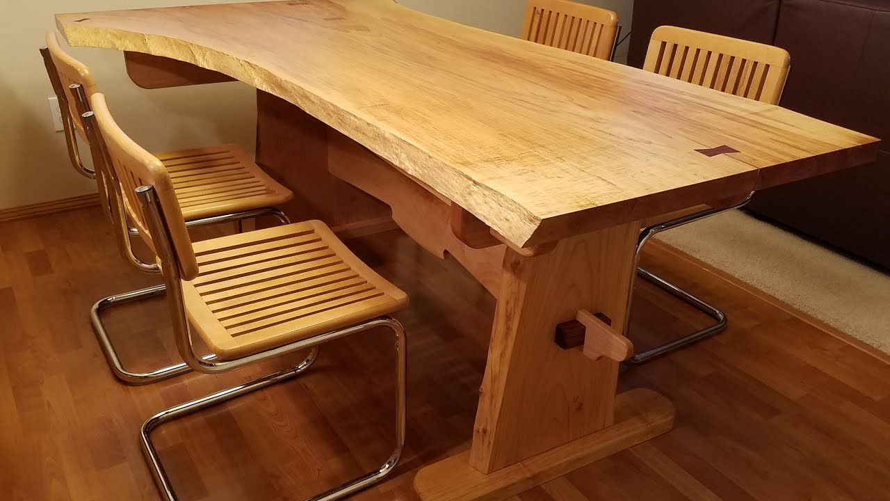 Handmade Table From Solid Wood.