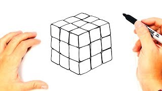 How to draw a Rubik Cube Step by Step | Rubik Cube Drawing Lesson