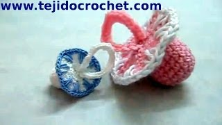 Souvenirs chupete en tejido crochet tuto...