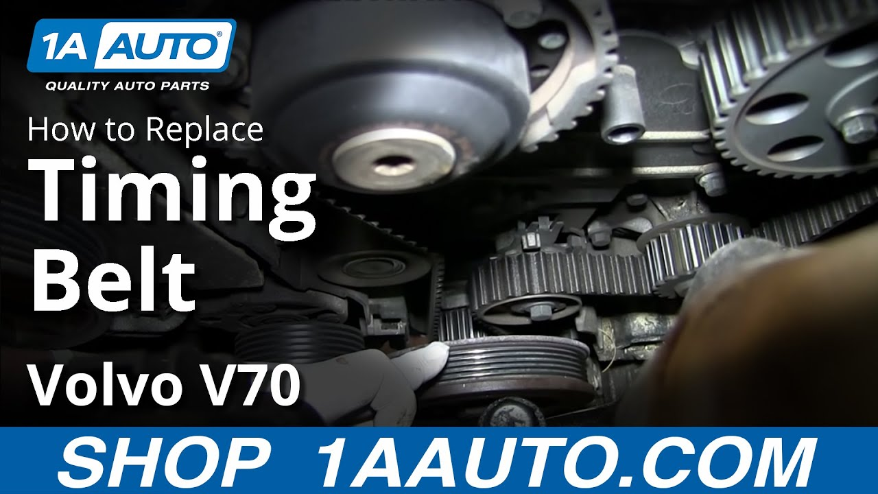 How To install Replace Engine Timing Belt Volvo L5 24L  YouTube