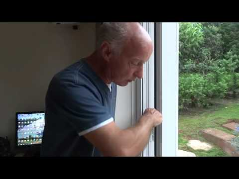 How to level french double glazed doors.