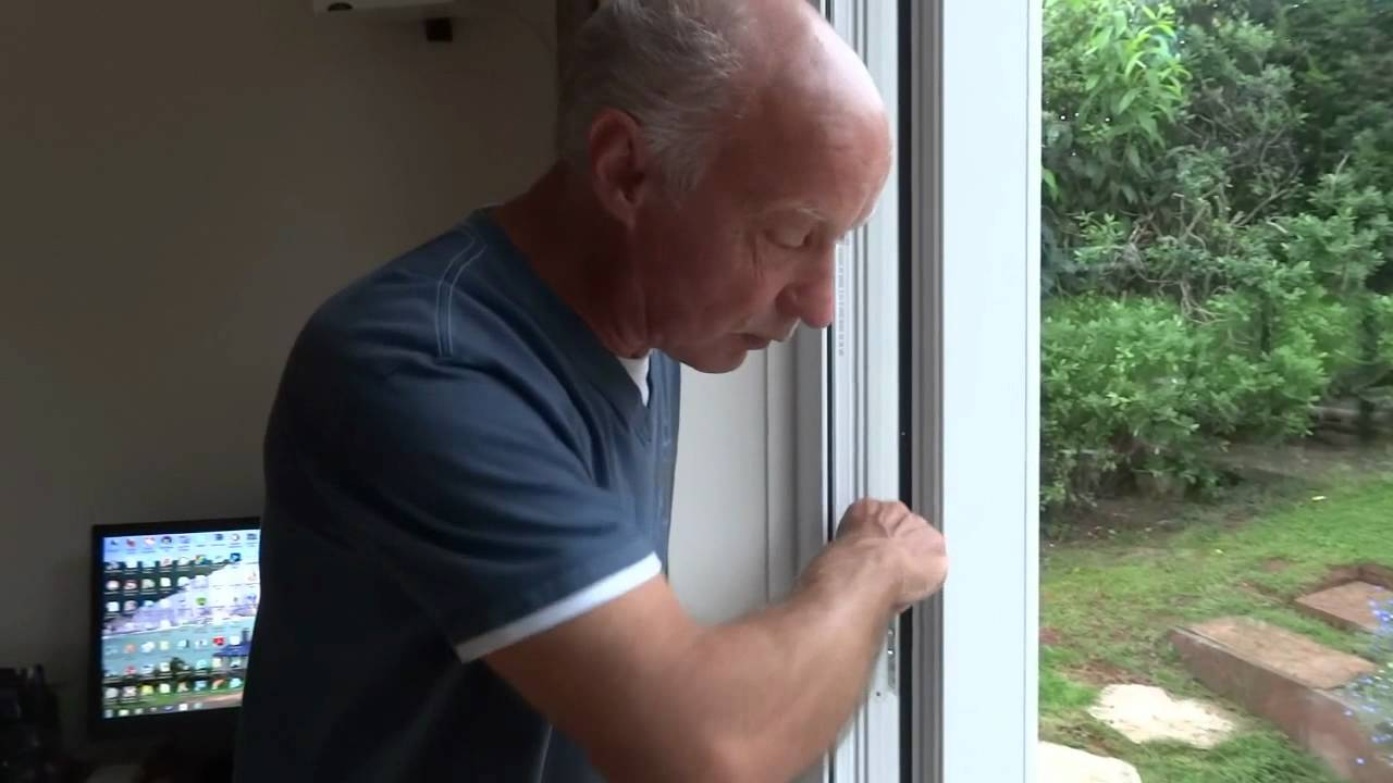 How to level french double glazed doors youtube for Upvc french doors with cat flap