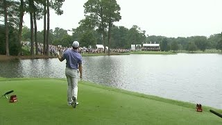 Rory McIlroy struggles off the tee on front nine at TOUR Championship