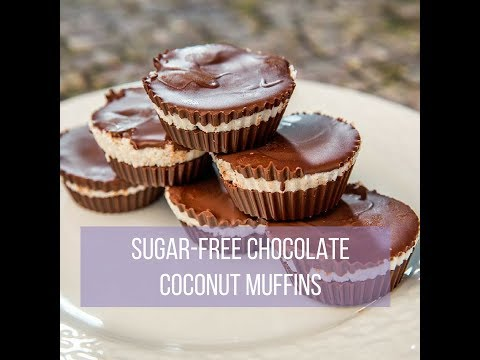 Sugar-Free Chocolate Coconut Muffins