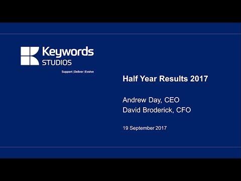 Keywords Studios (KWS) H1 results presentation September 2017