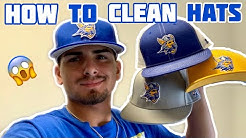 HOW TO CLEAN BASEBALL HATS