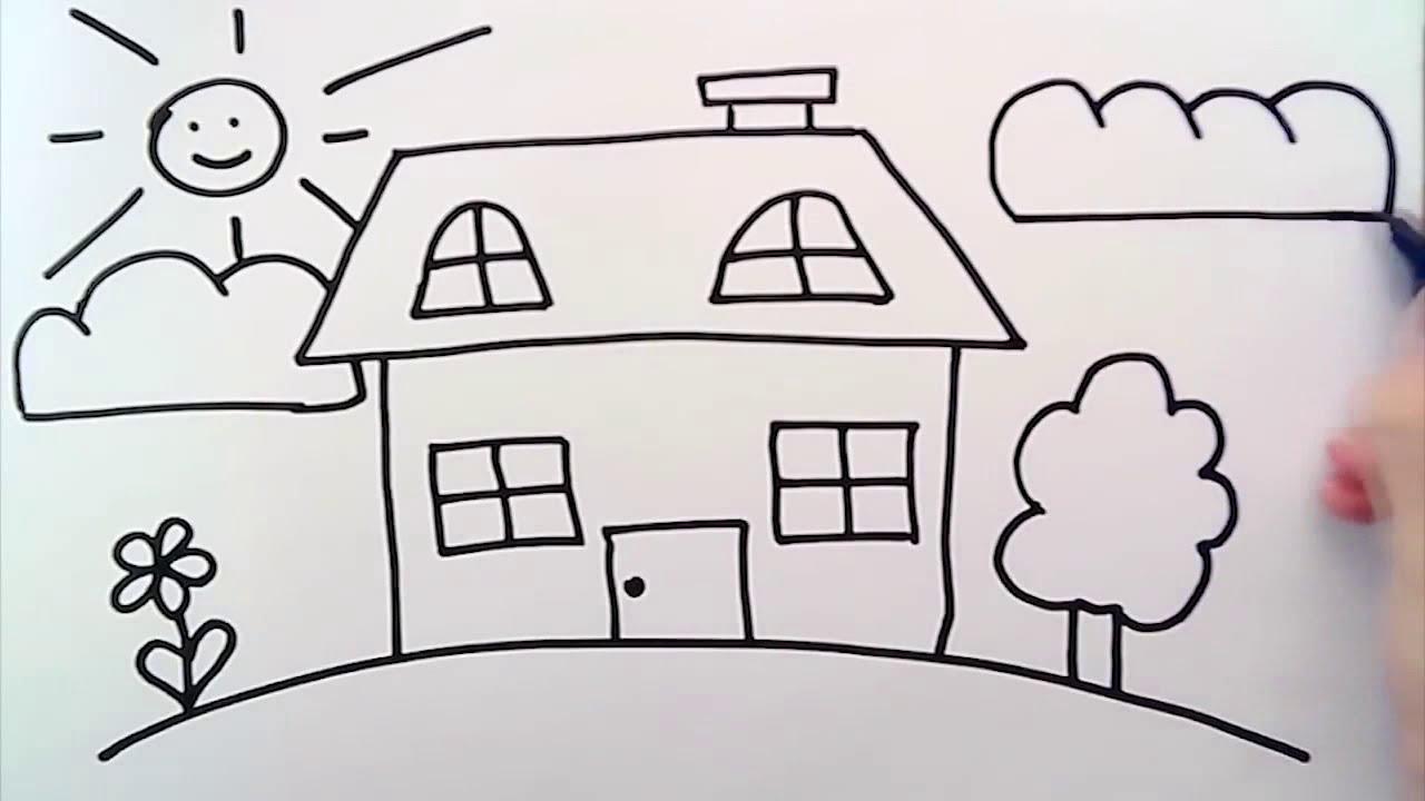 Ev Nasıl çizilir Kolay çizim Youtube
