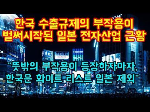 """한국 수출규제의 부작용이 벌써부터 시작된 일본 전자산업 근황 """"뜻밖의 부작용 나오자마자, 한국은 화이트 리스트에서 일본 제외"""""""