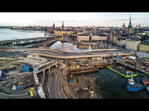 Slussen and surroundings in Stockholm (LONG)