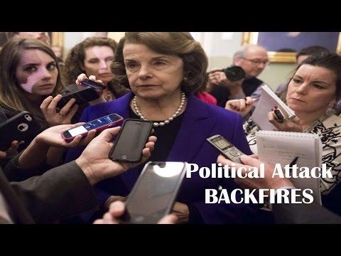 BAD NEWS Sen  Dianne Feinstein Trump Attack Backfires When Asked About Her Husband
