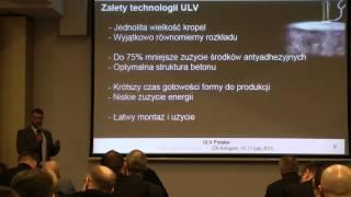 Prezentacja technologii ULV w przemyśle betoniarskim - ZBI Kongres Ossa 2015