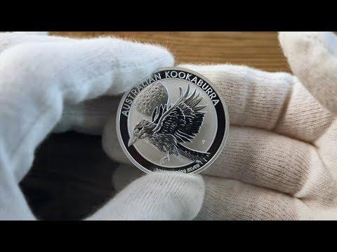 Close up look at the 2018 Australian Kookaburra Silver Bullion 1oz Coin