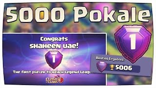 5000 Pokale erreicht! LEGEND LEAGUE | Neuer Weltrekord! | Clash of Clans [deutsch/german]