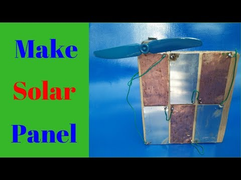 How to Make Solar Free Energy Panel at Home Easy 100% Working New Project 2018