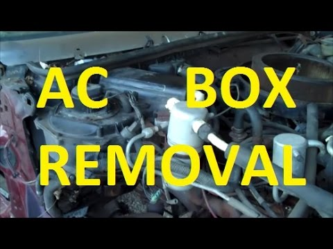 How To Remove AC Heater Box! Classic Gbody Garage - YouTube