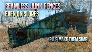 Build Seamless Junk Fence Walls With No Gaps 🗜️ Fallout 4 No Mods Shop Class