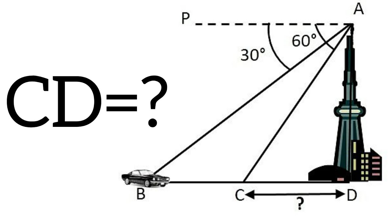 Height and distance problem 10th class mathematics solve