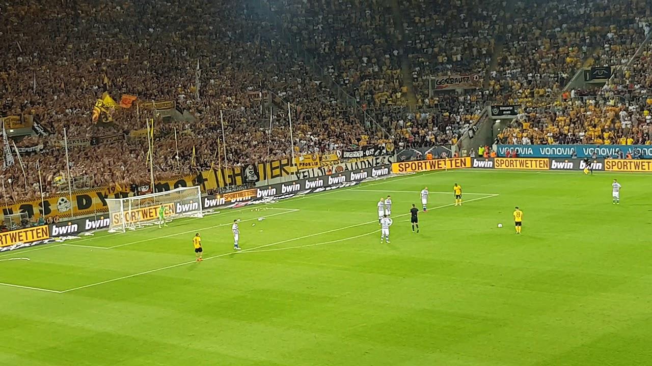 Dynamo Dresden - Duisburg   Abpfiff   6. August 2018 - YouTube