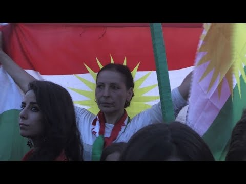 Syrian Kurds demonstrate in support of Iraq Kurdish referendum